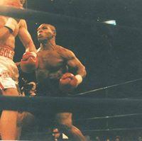 Tyson v Golota during fight
